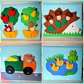 Куклы и игрушки ручной работы. Ярмарка Мастеров - ручная работа Книжка на липучках (фетр). Handmade.