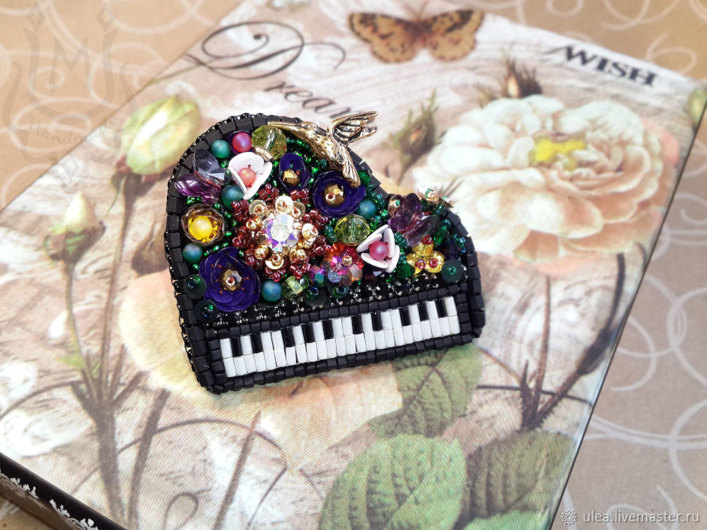 Brooch Magic grand piano a gift to a musician, Brooches, St. Petersburg,  Фото №1
