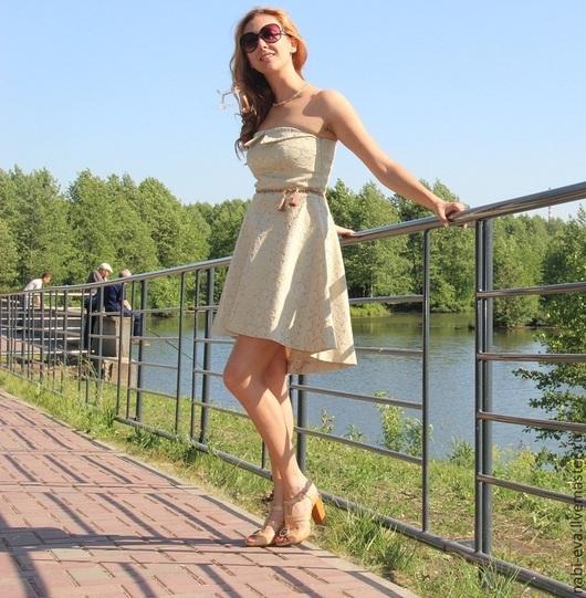 Платья ручной работы. Ярмарка Мастеров - ручная работа. Купить SALE!!! Платье-бондо. Handmade. Золотой, песочный, платье летнее