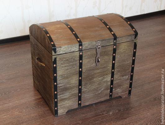Шкатулки ручной работы. Ярмарка Мастеров - ручная работа. Купить Сундук деревянный. Handmade. Коричневый, предмет интерьера