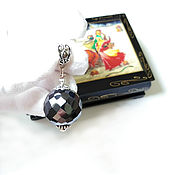 Украшения handmade. Livemaster - original item Rare ! Huge black diamond 58.40 ct pendant. Handmade.