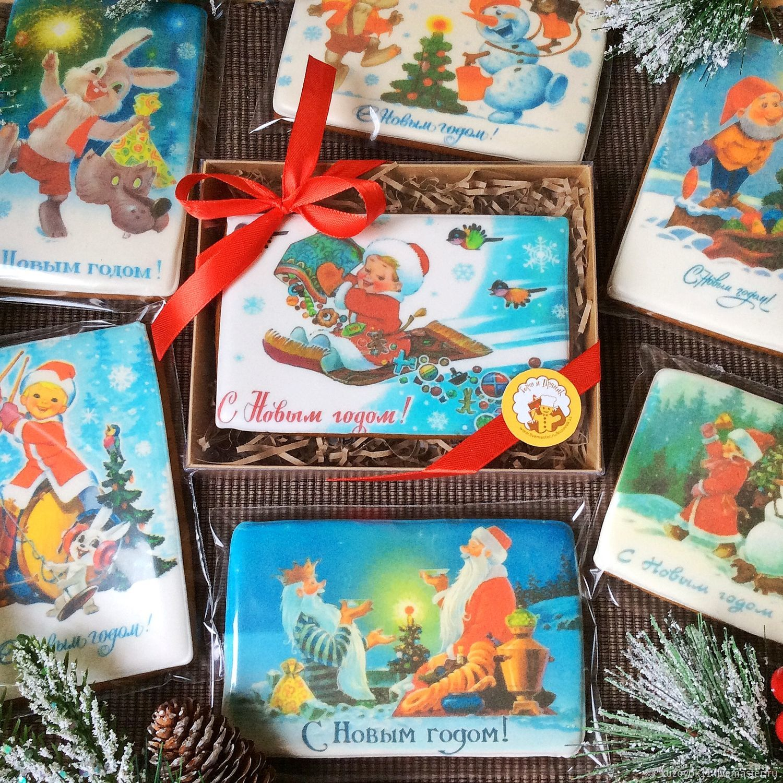 Пряники имбирные «Новогодние открытки», Пряники, Москва,  Фото №1
