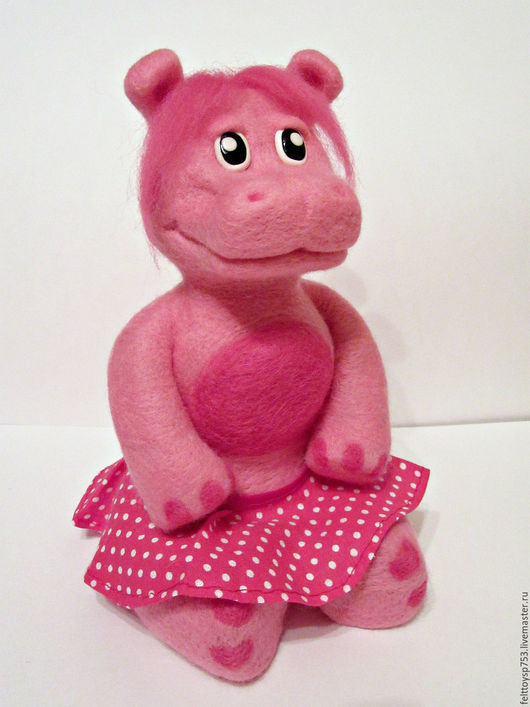 Игрушки животные, ручной работы. Ярмарка Мастеров - ручная работа. Купить Розовая бегемотиха. Handmade. Розовый, игрушка в подарок