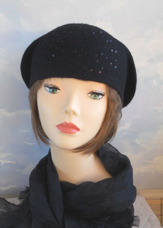 """Шляпы ручной работы. Ярмарка Мастеров - ручная работа. Купить шляпа """"Ночное рандеву"""". Handmade. Черный, дамские шляпы, меринос"""