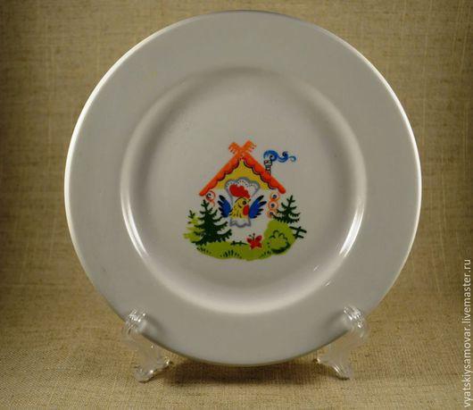 """Винтажная посуда. Ярмарка Мастеров - ручная работа. Купить Тарелочки детские """"Избушка"""" Хайта. Handmade. Белый, детская тарелка, фарфор"""
