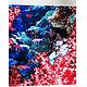 Дизайнер Анна Сердюкова (Дом Моды SEANNA). Платок из атласа `Кораллы с рыбками` в любом размере с авторским принтом. Цена за платок из атласа размером 60х60 см - 3900 руб.