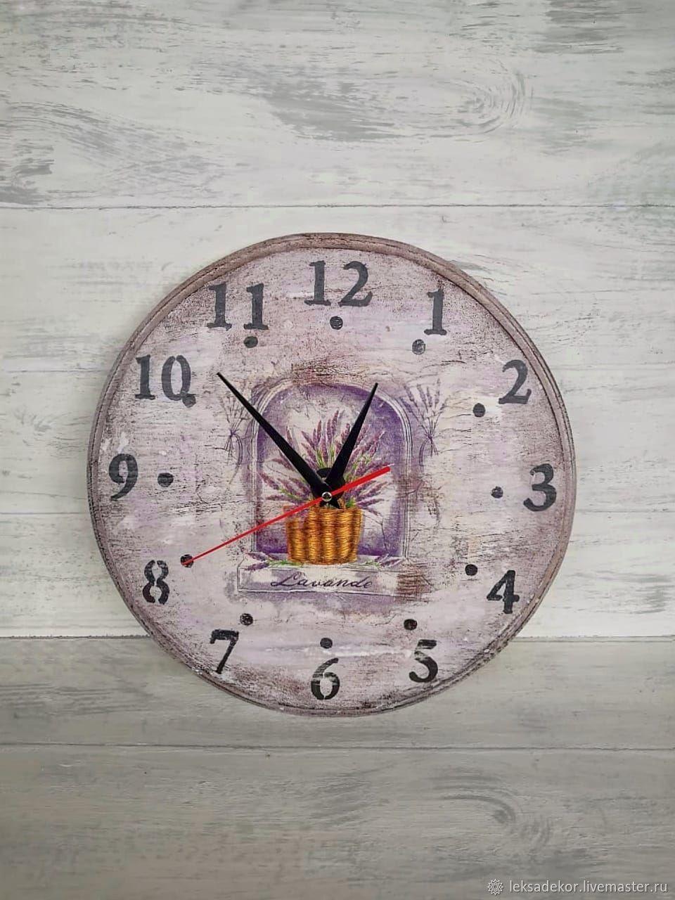 Часы деревянные в стиле Прованс , Часы классические, Москва,  Фото №1