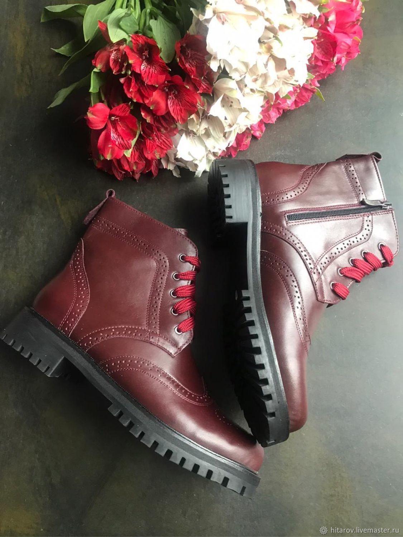 Shoes 'Inspektor long' Bordeaux black sole, Boots, Moscow,  Фото №1