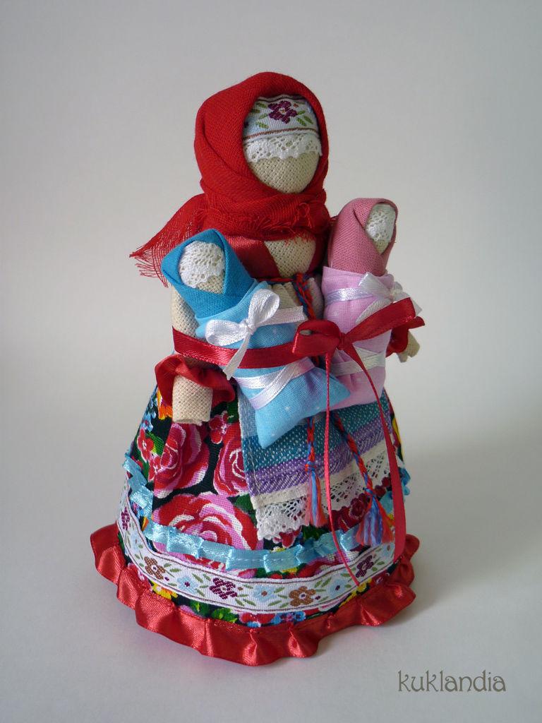 Кукла оберег с детьми