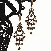 Украшения handmade. Livemaster - original item Earrings with garnet Burgundy Earrings with natural stones. Handmade.