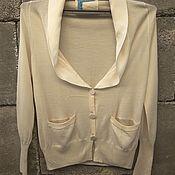 Винтаж handmade. Livemaster - original item Niaz brand jacket, silk with cashmere, Italy.. Handmade.