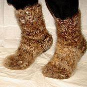 Аксессуары handmade. Livemaster - original item Thick feather socks item no. №37m of dog Pooh. Handmade.