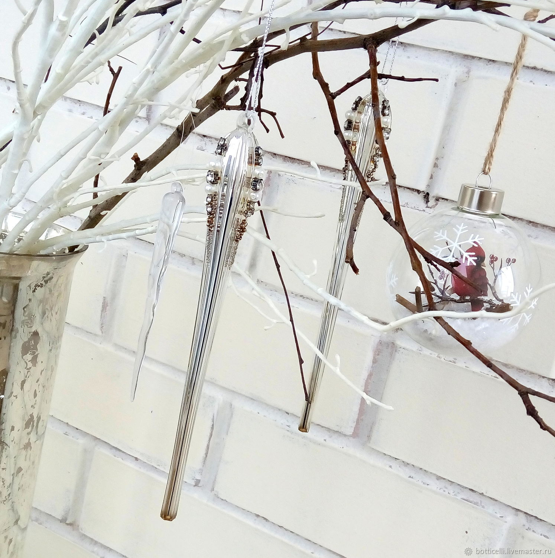 Елочные игрушки сосулька  12шт, Елочные игрушки, Москва,  Фото №1