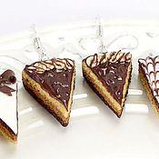 """Украшения ручной работы. Ярмарка Мастеров - ручная работа Серьги """"Три шоколада"""". Handmade."""