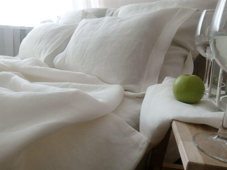Постельное белье из натурального УМЯГЧЕННОГО молочного льна (100% лен), Комплекты постельного белья, Тольятти,  Фото №1