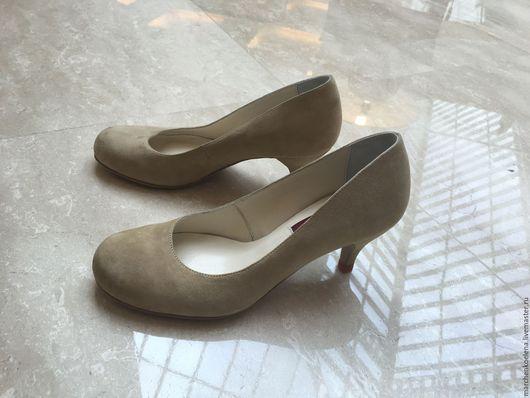 Обувь ручной работы. Ярмарка Мастеров - ручная работа. Купить Туфли. Handmade. Бежевый, туфли лодочки, обувь женская