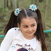 """Работы для детей, ручной работы. Ярмарка Мастеров - ручная работа Резиночки для волос """"Маленькая модница"""". Handmade."""