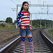 """Одежда ручной работы. Ярмарка Мастеров - ручная работа Джемпер """"Америка"""". Handmade."""
