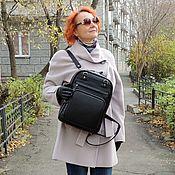 Сумки и аксессуары handmade. Livemaster - original item Backpacks: Women`s leather backpack bag black Camila Mod SR83-711. Handmade.