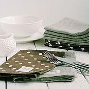 Для дома и интерьера handmade. Livemaster - original item Napkins linen. 12 pieces in set.. Handmade.
