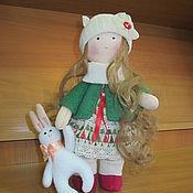 Куклы и игрушки handmade. Livemaster - original item Girl Christmas Bunny. Handmade.