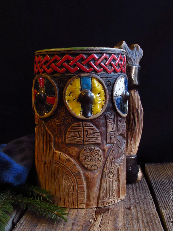 Пивная кружка `У стен Вальхаллы` Мастер Исаев Евгений