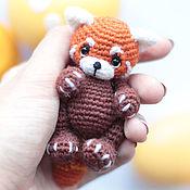 Куклы и игрушки ручной работы. Ярмарка Мастеров - ручная работа Красная панда амигуруми Шпунька вязаная игрушка. Handmade.