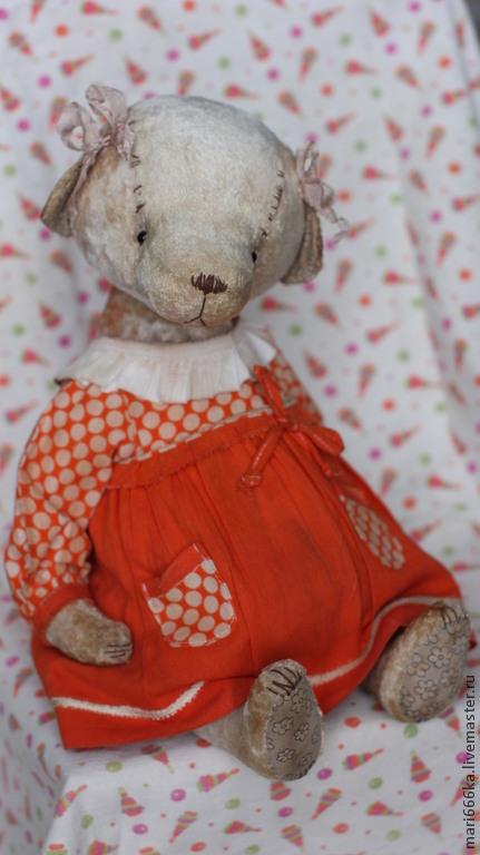 Мишки Тедди ручной работы. Ярмарка Мастеров - ручная работа. Купить Милаша.. Handmade. Бежевый, винтажный плюш