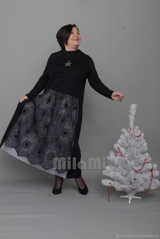 Платье с кружевной вставкой на юбке Арт. 3952, Платья, Киров,  Фото №1