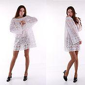 Одежда handmade. Livemaster - original item White lace tunic cotton. Handmade.