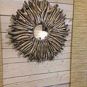 Для дома и интерьера ручной работы. Ярмарка Мастеров - ручная работа Зеркало солнце декоративное. Handmade.