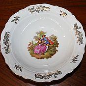Винтаж handmade. Livemaster - original item Large salad bowls with gallant scenes, Winterling, Germany. Handmade.