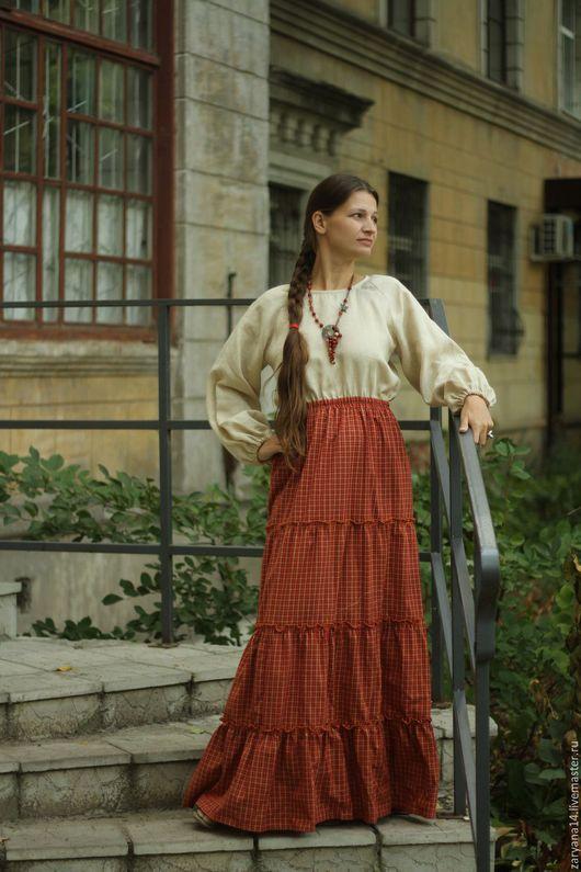 Платья ручной работы. Ярмарка Мастеров - ручная работа. Купить Платье с длинным рукавом. Handmade. Комбинированный, платье на осень