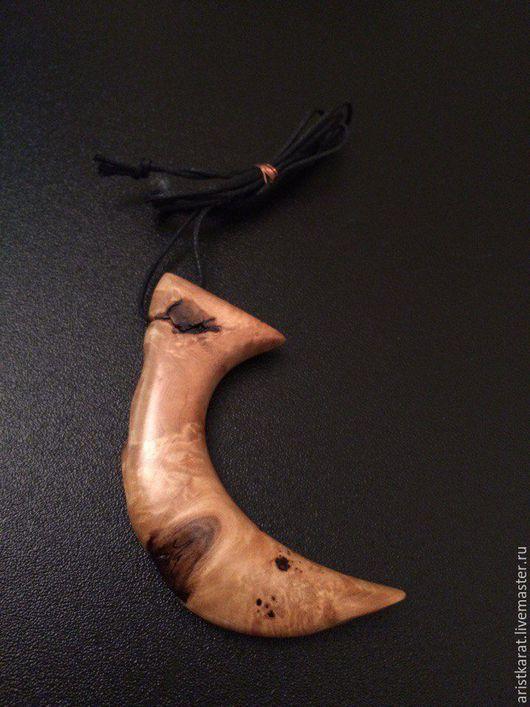 """Кулоны, подвески ручной работы. Ярмарка Мастеров - ручная работа. Купить Кулон из капы """"Коготь"""". Handmade. Кап, кулон на шнурке"""