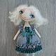 Коллекционные куклы ручной работы. Ярмарка Мастеров - ручная работа. Купить Лора. Handmade. Морская волна, изумрудный цвет