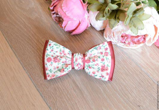 """Галстуки, бабочки ручной работы. Ярмарка Мастеров - ручная работа. Купить Бабочка-галстук """"Цветочный рай"""". Handmade. Бордовый, бабочка"""