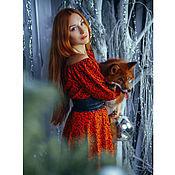 Одежда ручной работы. Ярмарка Мастеров - ручная работа Длинное красное платье в пол, эффектное вечернее платье. Handmade.
