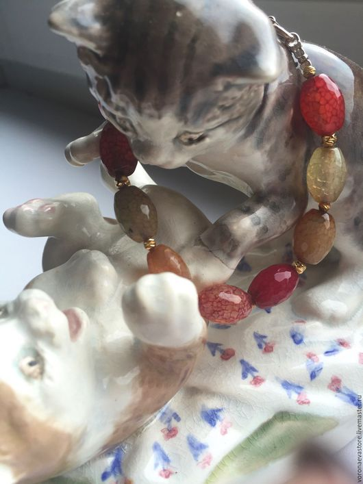 Браслеты ручной работы. Ярмарка Мастеров - ручная работа. Купить Серебряный браслет с натуральными агатами, Magnolia (Австралия). Handmade.