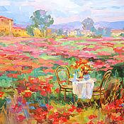 Картины и панно handmade. Livemaster - original item Pictures: Still life on a poppy field. Handmade.