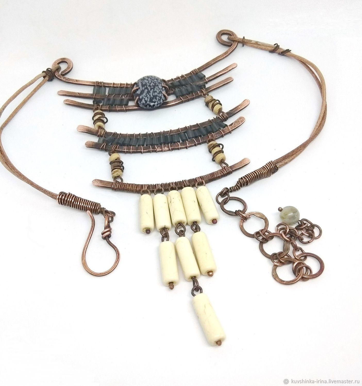 Necklace copper ethnic Legend, Necklace, St. Petersburg,  Фото №1