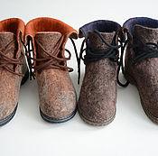 """Обувь ручной работы. Ярмарка Мастеров - ручная работа Ботинки зимние """"Палитра"""". Handmade."""