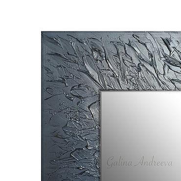 """Для дома и интерьера ручной работы. Ярмарка Мастеров - ручная работа Зеркало """"Темные листья"""". 80х60 см. Handmade."""