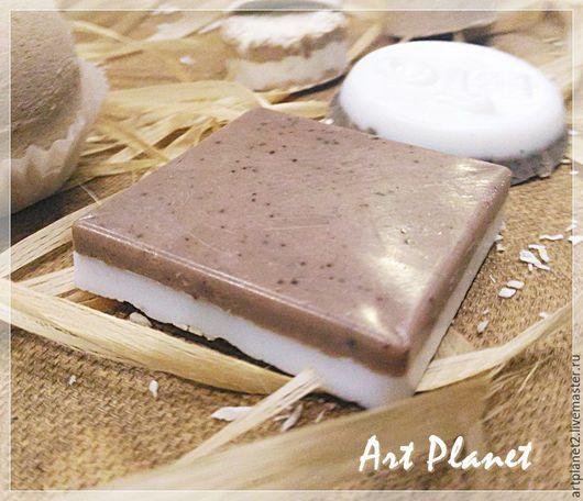 """Мыло ручной работы. Ярмарка Мастеров - ручная работа. Купить Мыло натуральное  """"Какао- кокос"""". Handmade. Эфирное масло"""