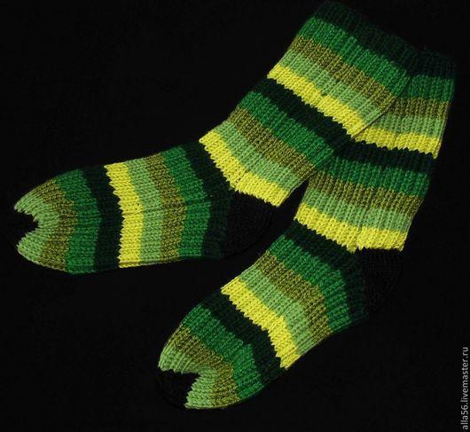 """Носки, Чулки ручной работы. Ярмарка Мастеров - ручная работа. Купить Носочки """"Зеленая радуга"""". Handmade. Зеленый, теплые носочки"""