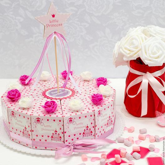 """Праздничная атрибутика ручной работы. Ярмарка Мастеров - ручная работа. Купить Торт """"Little Princess"""". Handmade. Торт из бумаги, коробочка"""