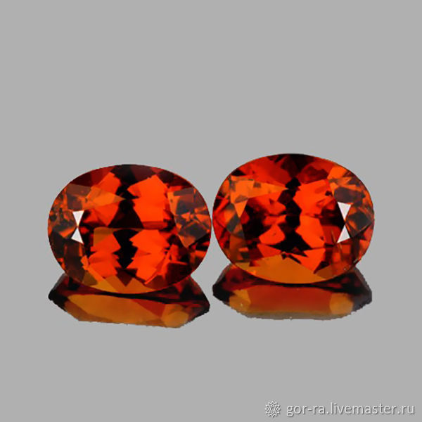 Hessonite Garnet 6,5h5,5, 2,  mm.  PCs, Minerals, Yoshkar-Ola,  Фото №1