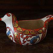 Русский стиль handmade. Livemaster - original item Bratina. Ladle-duck