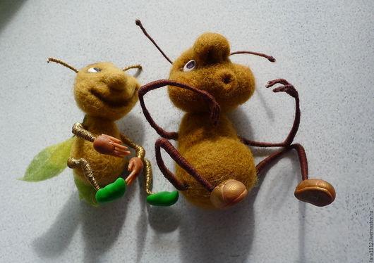 Игрушки животные, ручной работы. Ярмарка Мастеров - ручная работа. Купить Милые букашки. Handmade. Войлок, проволока, букашка, войлок
