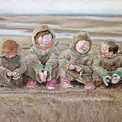 Картины и панно handmade. Livemaster - original item painting with pastels Happiness is just... (beige, ash, autumn). Handmade.