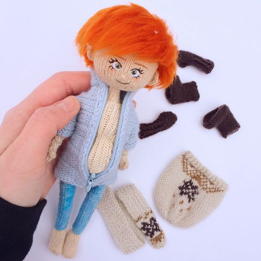Портретные куклы ручной работы. Ярмарка Мастеров - ручная работа. Купить Портретная кукла Рыжуля. Handmade. Кукла, авторская кукла